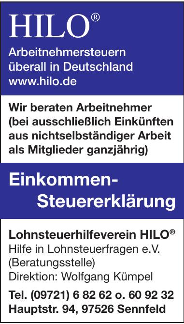 Lohnsteuerhilfeverein HILO® Hilfe in Lohnsteuerfragen e.V.
