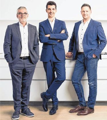 Hans Jörg und David Grüner sowie Matthias Albrecht. FOTOS: FLORIAN THIERER | ENGELBERT SCHMIDT