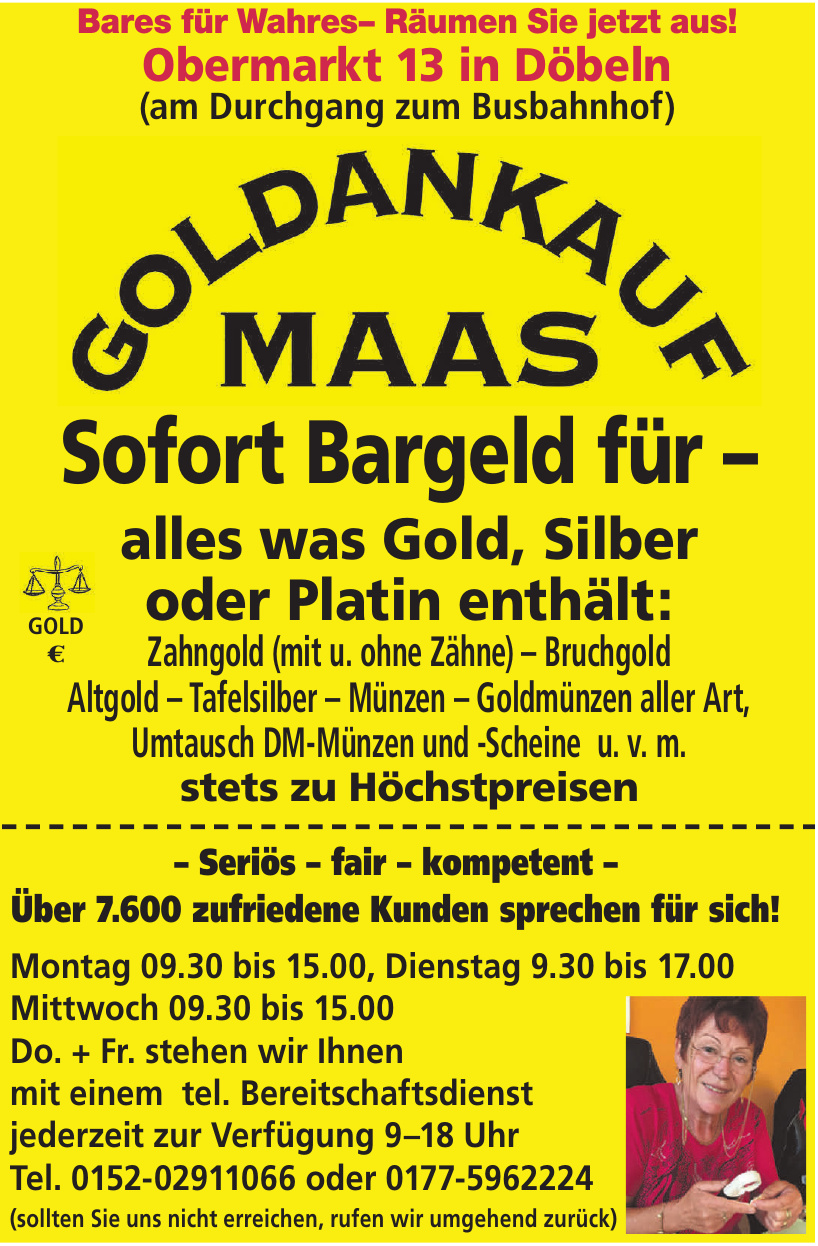 Goldankauf Maas