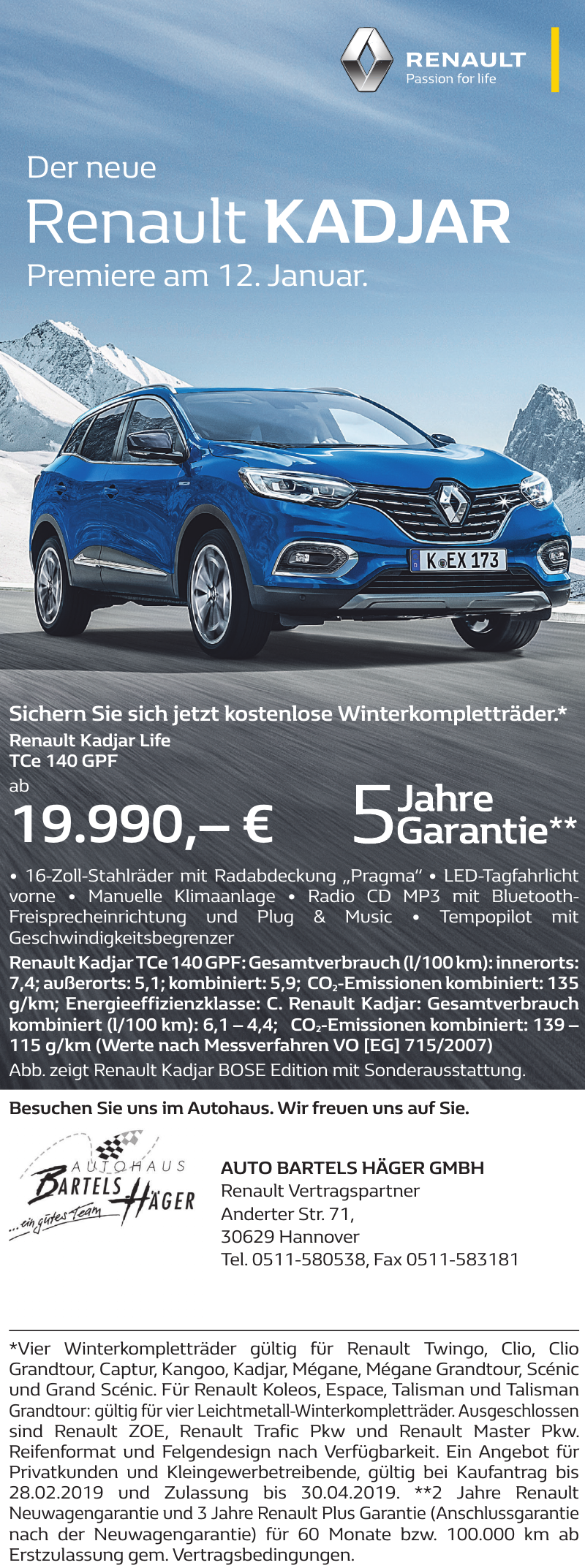 Auto Bartels Häger GmbH Renault Vertragspartner