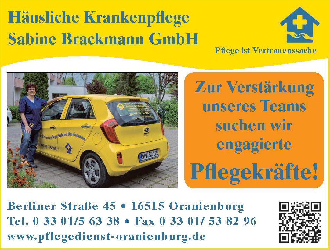 Häusliche Krankenpflege Sabine Brackmann GmbH