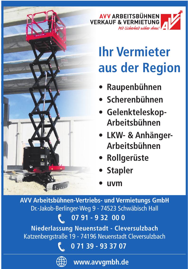 AVV Arbeitsbühnen-Vertriebs- und Vermietungs GmbH