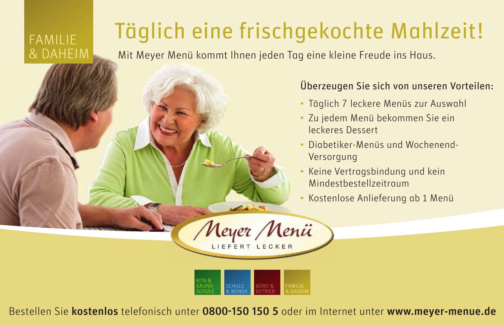 Meyer Menü Liefert Lecker