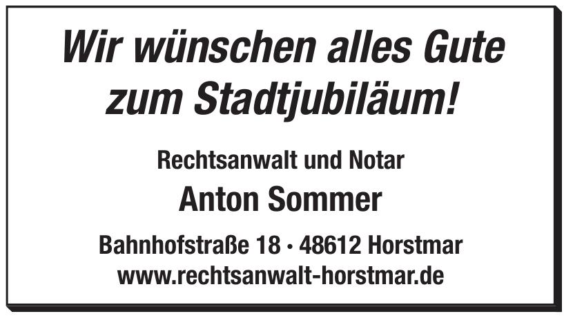 Rechtsanwalt und Notar Anton Sommer