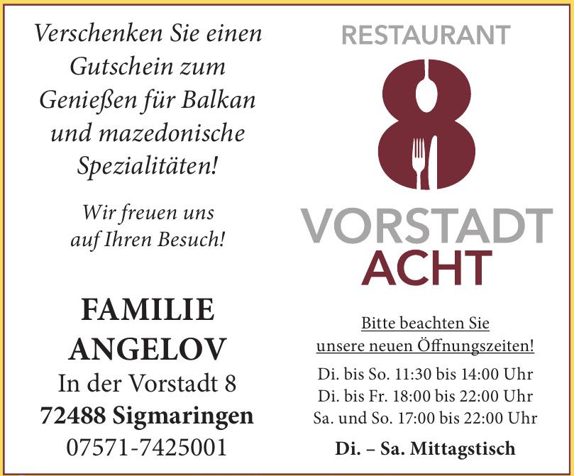 Restaurant 8 Vorstadt Acht