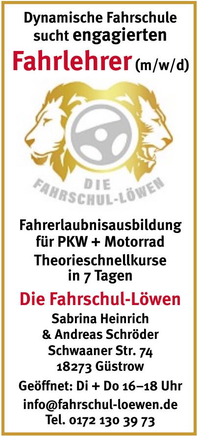 Die Fahrschul-Löwen Sabrina Heinrich & Andreas Schröder