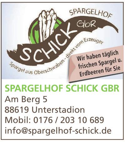 Spargelhof Schick GbR