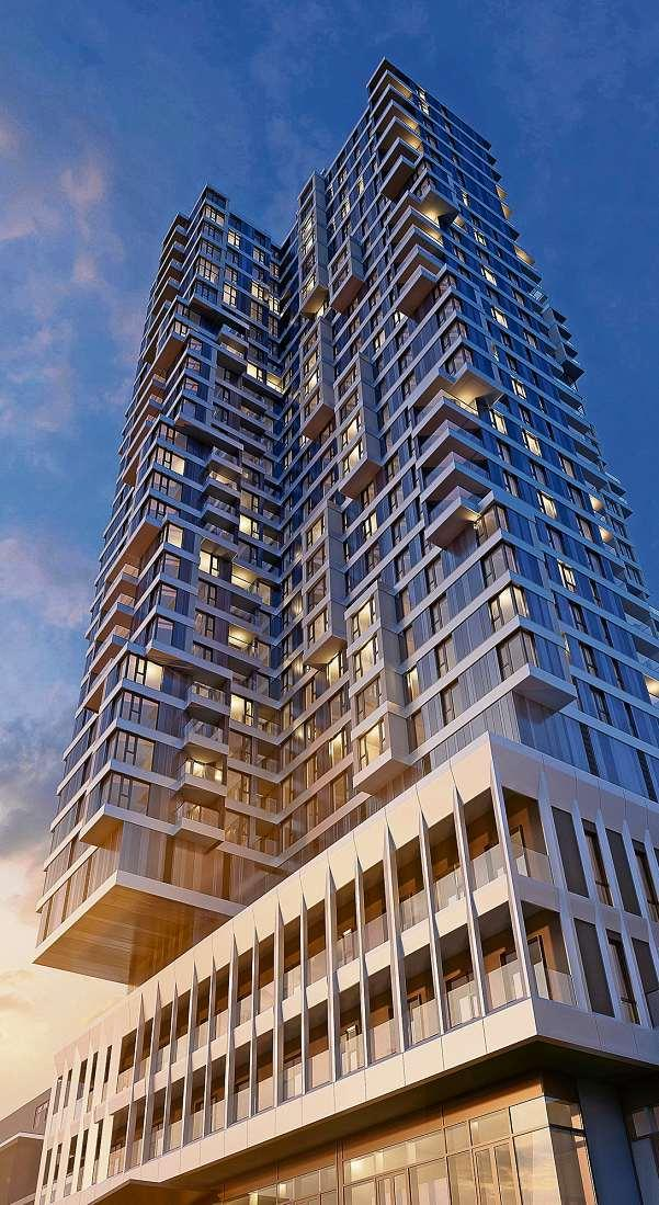 Der zukünftige Wohntower am Steglitzer Kreisel: Etwa die Hälfte der geplanten Eigentumswohnungen ist bereits verkauft. FOTO: FUCHSHUBER ARCHITEKTEN