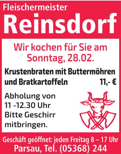 Fleischermeister Reinsdorf