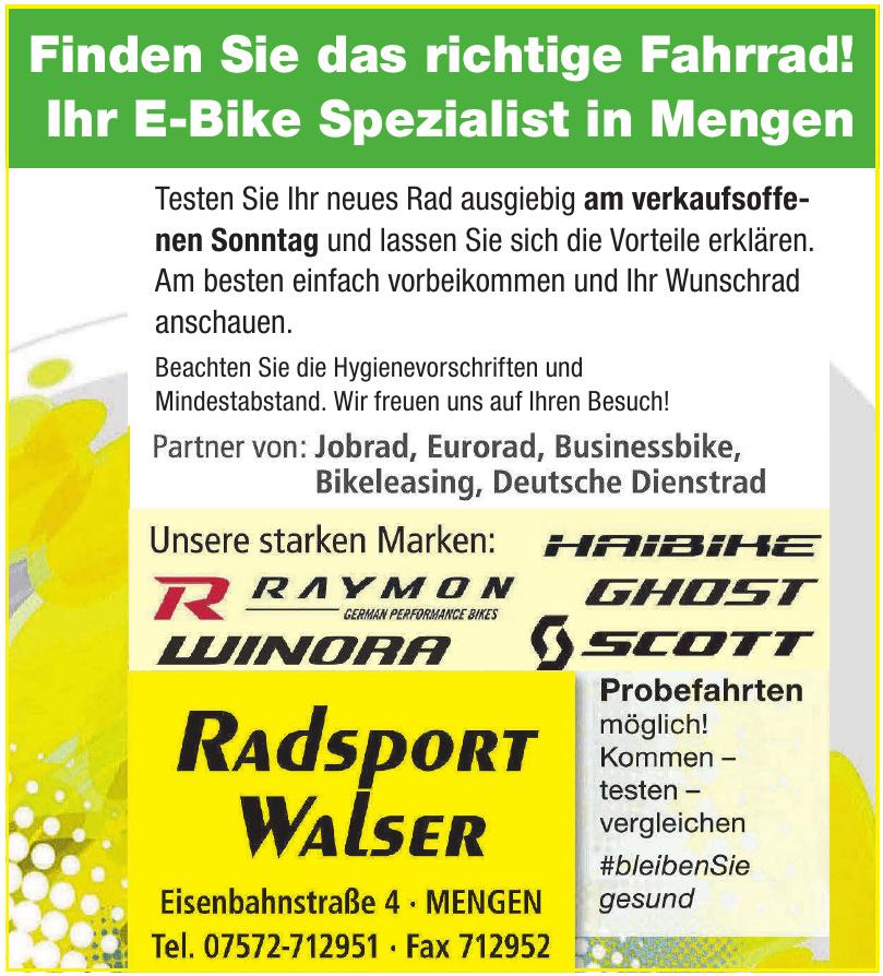 Radsport Walser