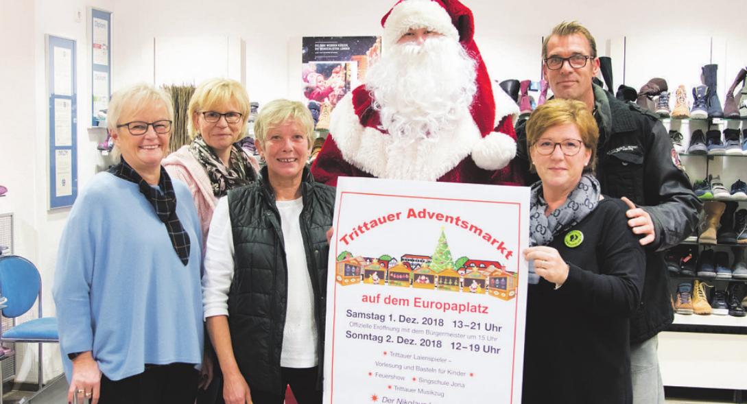 Die Gewerbegemeinschaft GGT und der Nikolaus laden ein zum 3. Trittauer Weihnachtsmarkt Foto: fp