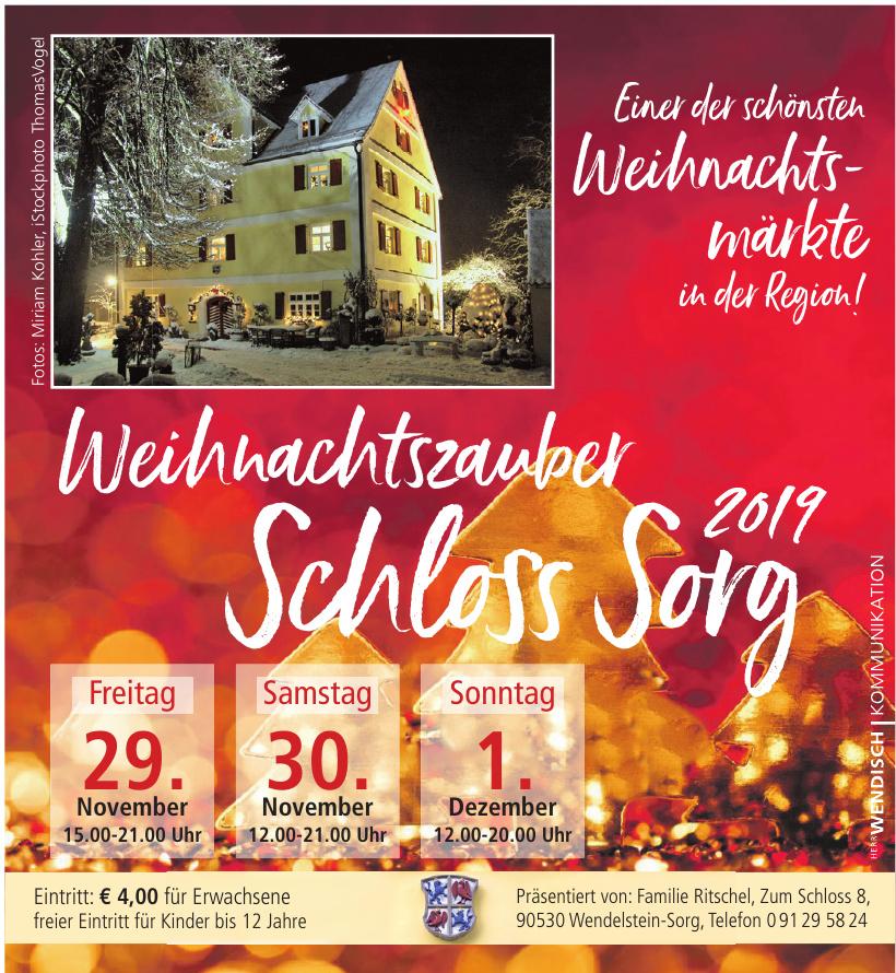 Weihnachtszauber Schloss Sorg 2019