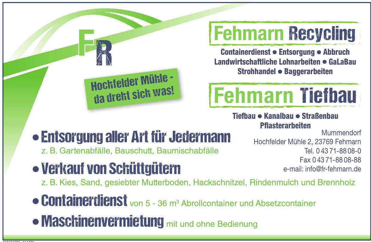 FR Fehmarn Reycling - Fehmarn Tiefbau