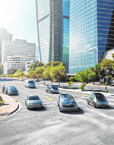 Radar, Video und mehr – Sensoren müssen Daten liefern, damit sich automatisierte Fahrzeuge im komplexen Stadtverkehr sicher bewegen können. Foto: djd/Bosch