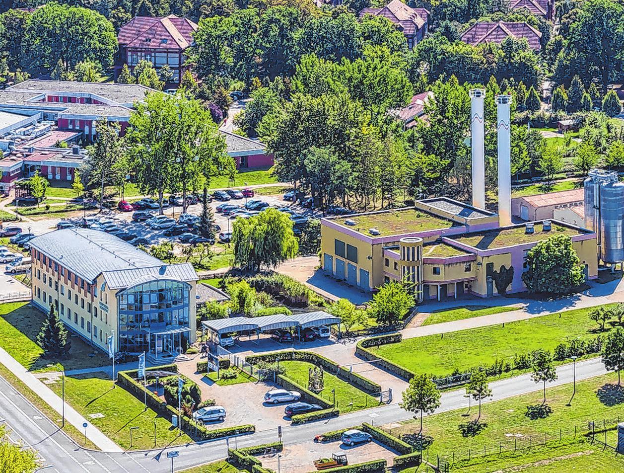 Die Stadtwerke Neuruppin GmbH aus der Vogelperspektive. Archiv-Foto: mae