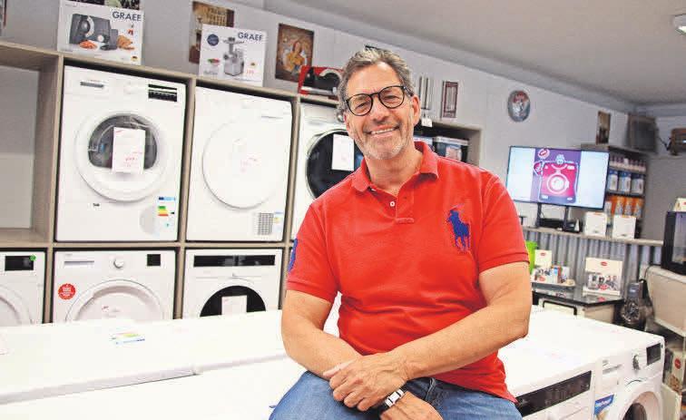 Klaus Thiel setzt auf energieeffiziente Waschmaschinen – auch mit Spezialprogrammen für Sportbekleidung.