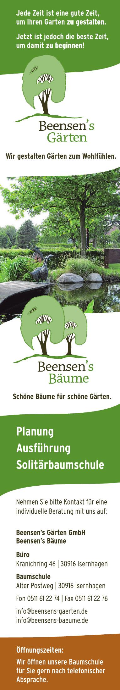 Beensen`s Gärten GmbH-Büro