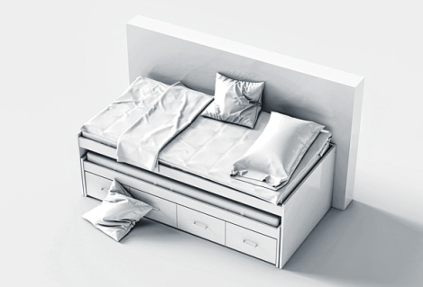 """Das Multifunktionsmöbel vereint die Funktionen """"Bett"""" und """"Kommode"""". FOTO: ISTOCK/PAUL CAMPBELL"""