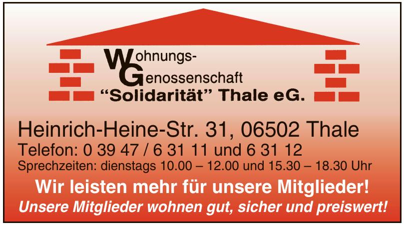 WG Wohnungs-Genossenschaft Solidarität Thale eG.