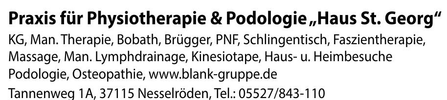 """Praxis für Physiotherapie & Podologie """"Haus St. Georg"""""""