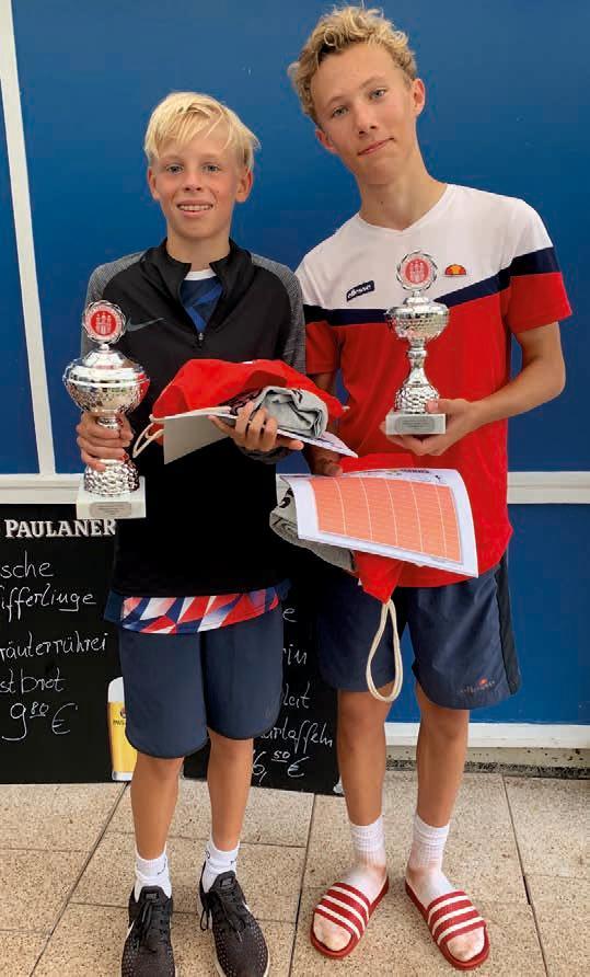 Junioren U14: v.l. Karl Nagel-Heyer (Club a.d. Alster) – Ferdinand Lahrtz (THC Klipper) 6:1, 6:1