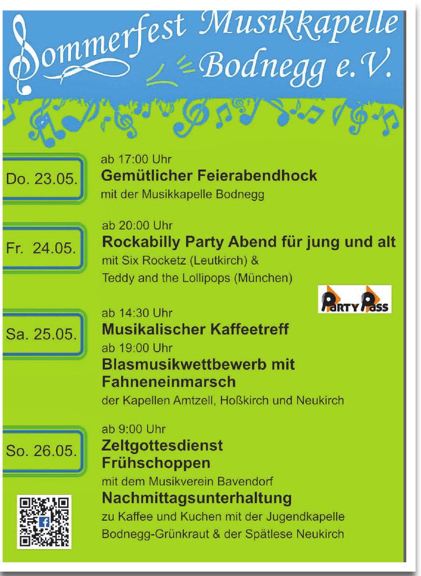 Sommerfest MUsikkapelle Bodnegg e. V.