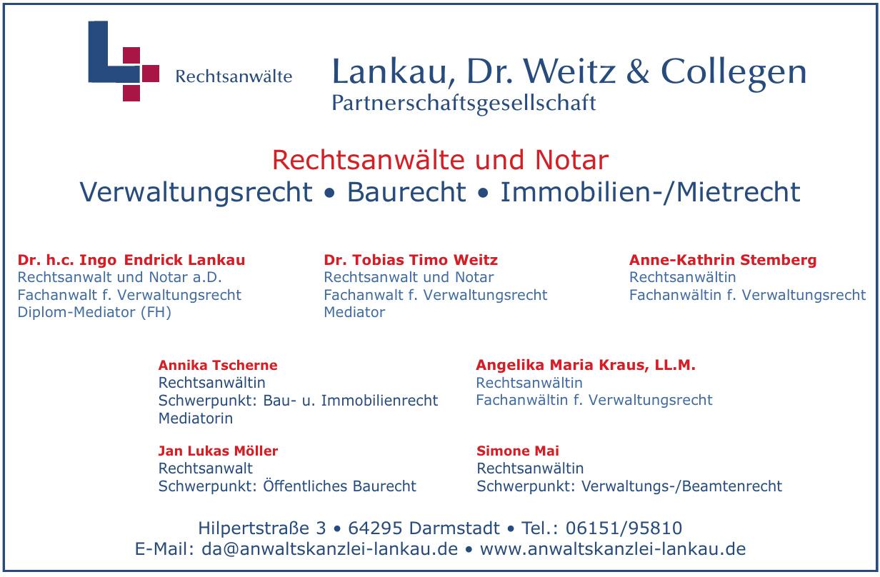 Rechtsanwälte & Notar Dr. h.c. Lankau, Dr. Weitz & Collegen Partnerschaftsgesellschaft mbB