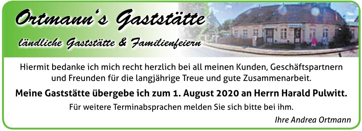 Ortmann's Gaststätte ländliche Gaststätte & Familienfeiern