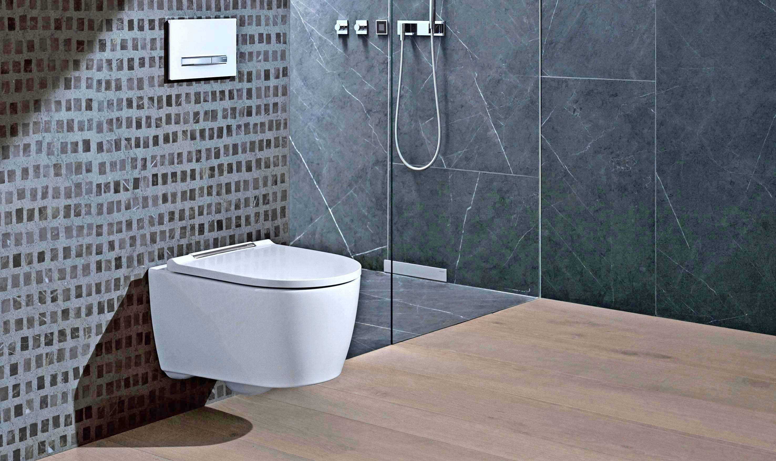 Für hohen Komfort in einem späteren Lebensabschnitt sorgen Toiletten, die in der Höhe verstellt werden können, ohne die Wand zu öffnen.