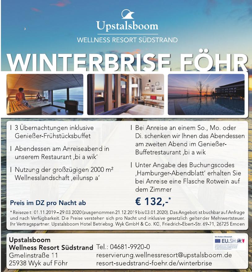 Upstalsboom Wellness Resort Südstrand