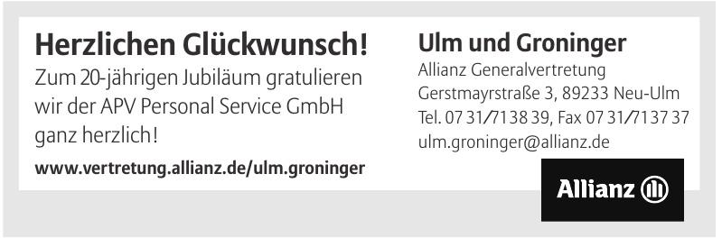Ulm und Groninger Allianz Generalvertretung