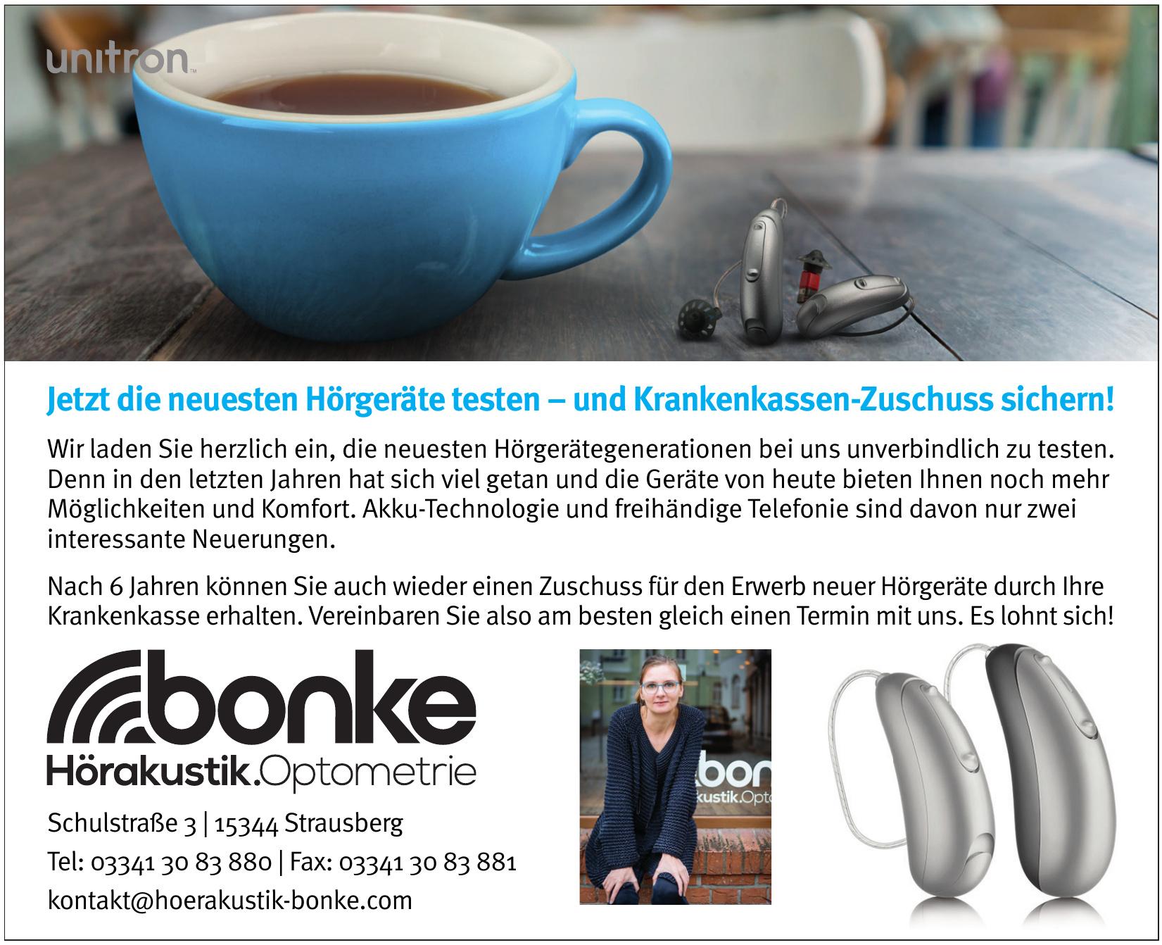 Bonke Hörakustik - Optometrie