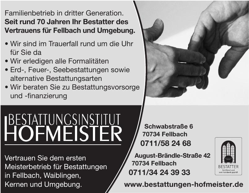 Bestattungen Hofmeister