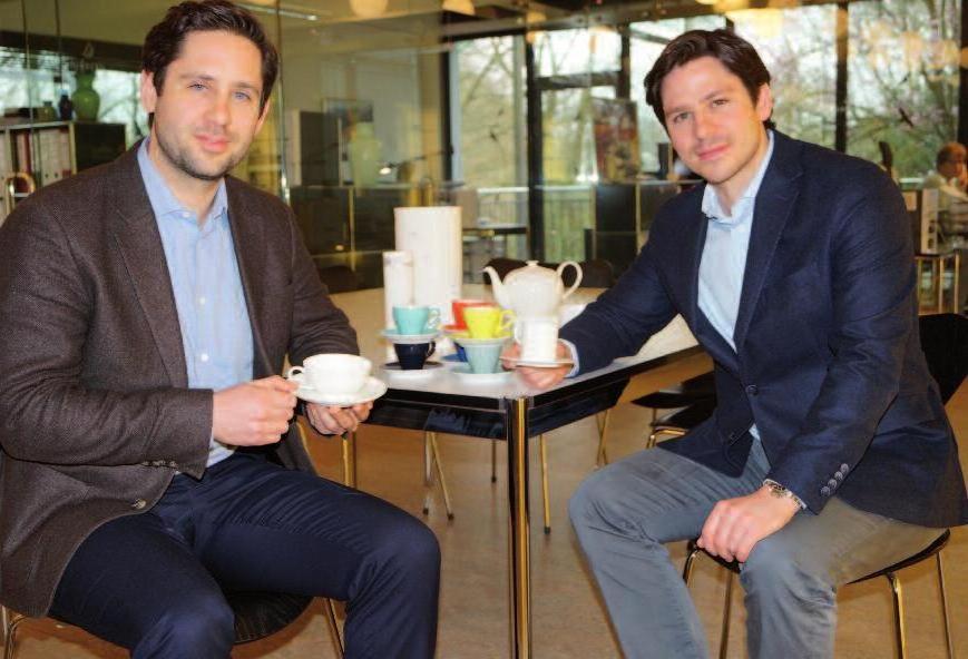 Jan (l.) und Ben Dibbern teilen sich die Geschäftsführung des Familie.Fotos (2): Petra Sonntag