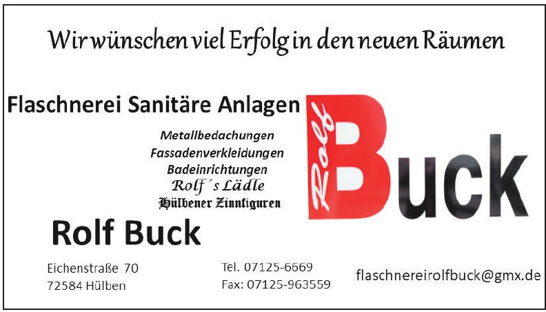 Flaschnerei Sanitäre Anlagen Buck