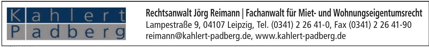 Rechtsanwalt Jörg Reimann / Fachanwalt für Miet- und Wohnungseigentumsrecht