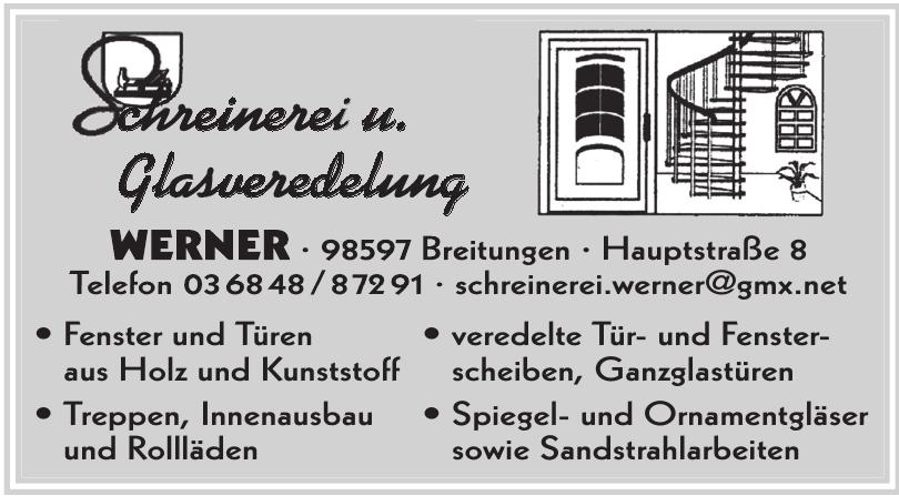 Schreinerei u. Glasveredelung Werner