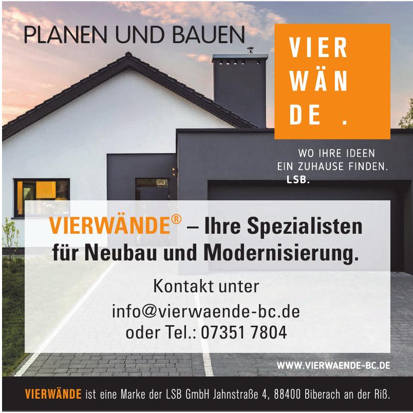 VIERWÄNDE ist eine Marke der LSB GmbH