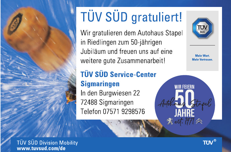 TÜV SÜD Service-Center Sigmaringen