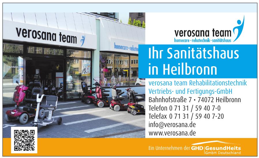 verosana team Rehabilitationstechnik Vertriebs- und Fertigungs-GmbH