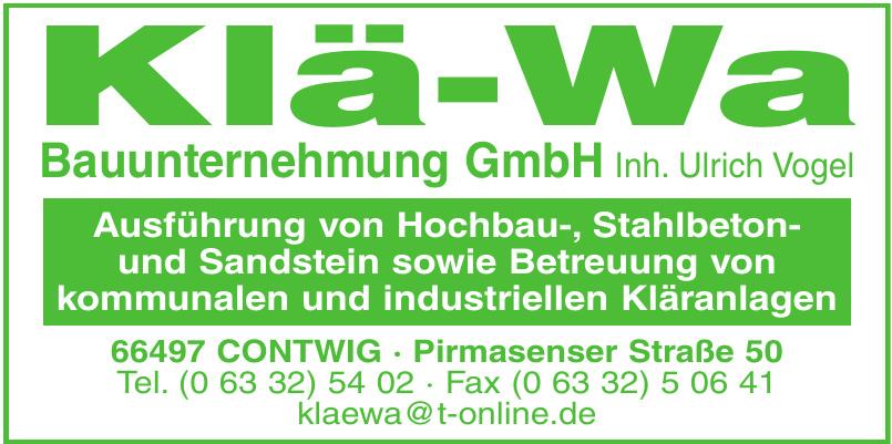 Klä-Wa Bauunternehmung GmbH
