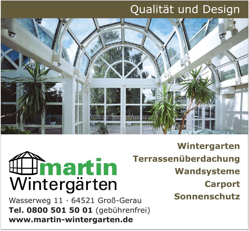Martin Wintergärten