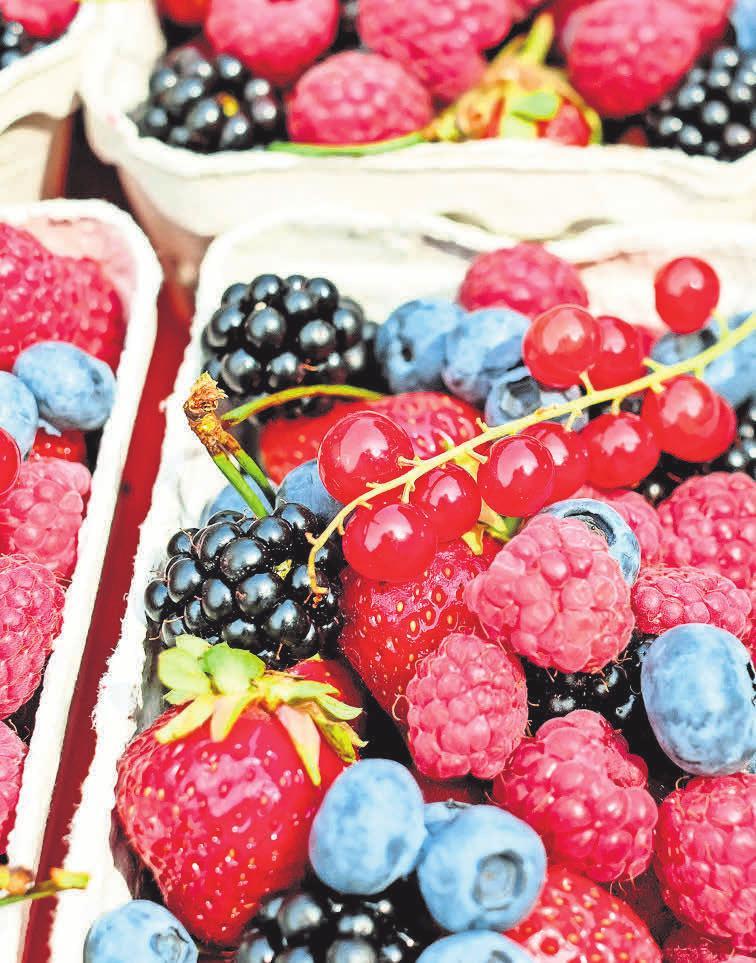 Beeren verleihen rustikalen herbstlichen Speisen eine feine Süße.