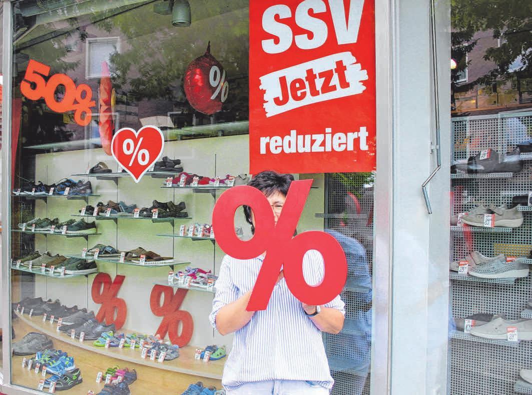 Beim Schuhhaus Weber-Henkel erwartet die Kundschaft besonders viele Schnäppchen beim diesjährigen SSV