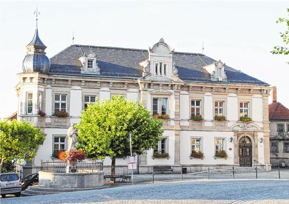 Ehemaliges Amtsgerichtsgebäude am Marktplatz. FOTO: SABINE WEINBEER