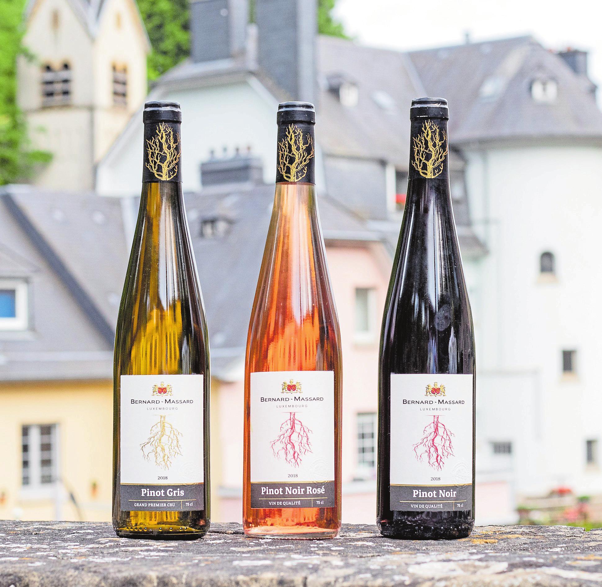 Les vins de Bernard-Massard dans leur nouvel habillage.