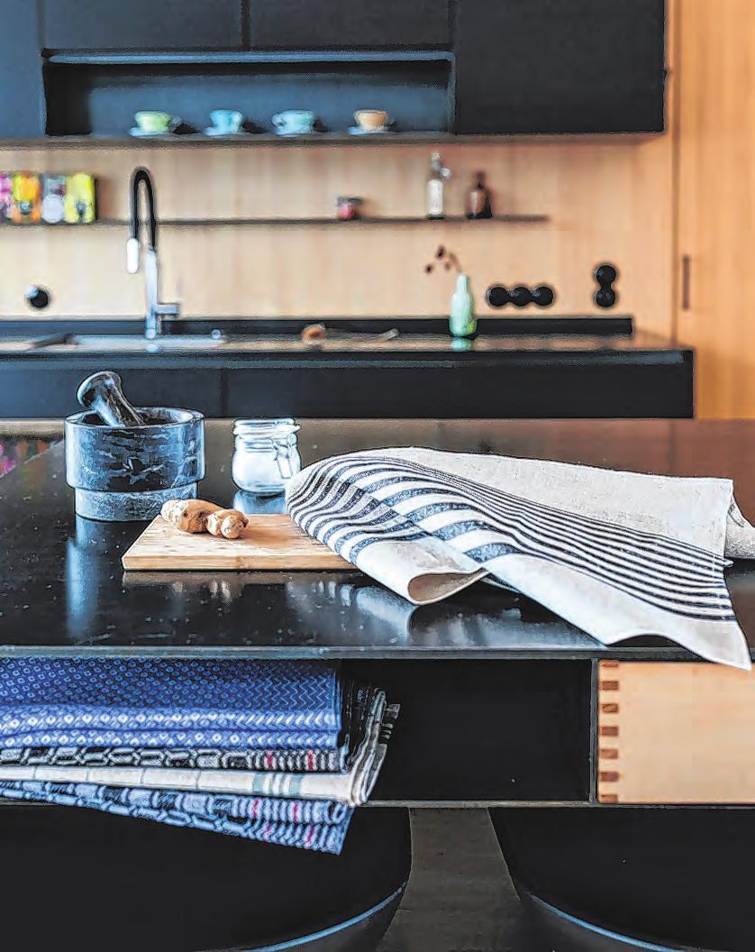 Wunderbar nachhaltig: Küchentücher für den Haushalt Fotos: Weberei Vieböck