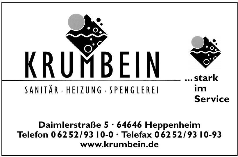 Krumbein Sanitär - Heizung - Spenglerei