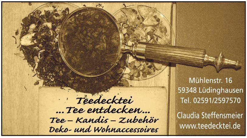 Teedecktei - Claudia Steffensmeier