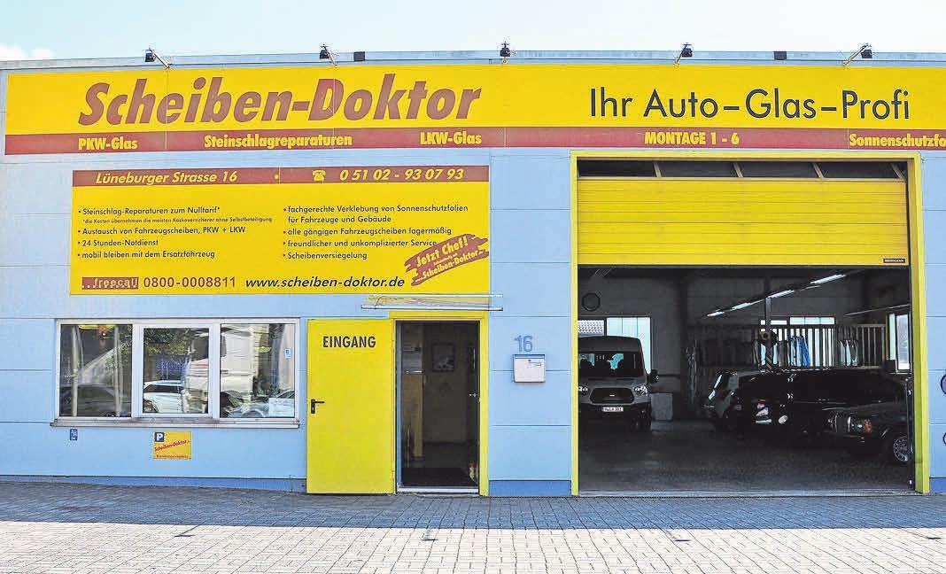Der Scheiben-Doktor ist seit mehr als 15 Jahren an der Lüneburger Straße 16 im Rethener Gewerbegebiet ansässig.
